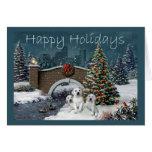 Tarjeta de Navidad del labrador retriever Evening1