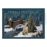Tarjeta de Navidad del labrador retriever Evening2