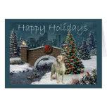 Tarjeta de Navidad del labrador retriever Evening7
