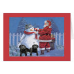 Tarjeta de Navidad del labrador retriever Santa Sn