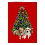Tarjeta de Navidad del labrador retriever Tree6