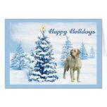 Tarjeta de Navidad del labrador retriever Tree6 az