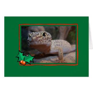 Tarjeta de Navidad del lagarto del Gecko