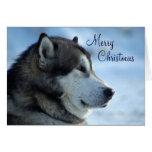 Tarjeta de Navidad del lobo - Felices Navidad