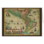 Tarjeta de Navidad del mapa de Viejo Mundo del