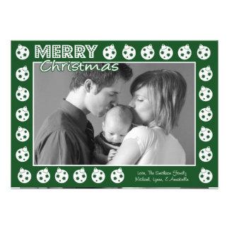 Tarjeta de Navidad del marco de Oranment (árbol de Invitacion Personalizada