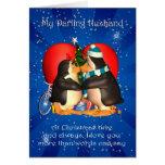 Tarjeta de Navidad del marido con el corazón de lo