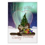 Tarjeta de Navidad del marido te amo con el amor d