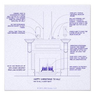 Tarjeta de Navidad del modelo Invitación 13,3 Cm X 13,3cm