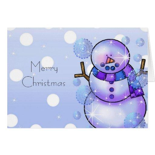 Tarjeta de Navidad del muñeco de nieve