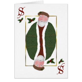 Tarjeta de Navidad del naipe de Papá Noel