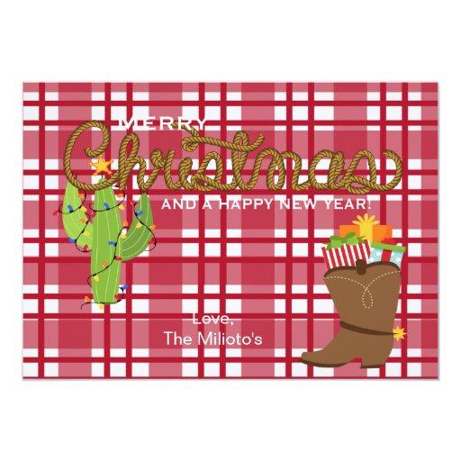 """Tarjeta de Navidad del navidad del país Invitación 5"""" X 7"""""""