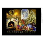 Tarjeta de Navidad del negocio: Árbol del día de