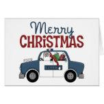 Tarjeta de Navidad del negocio del oficial de poli