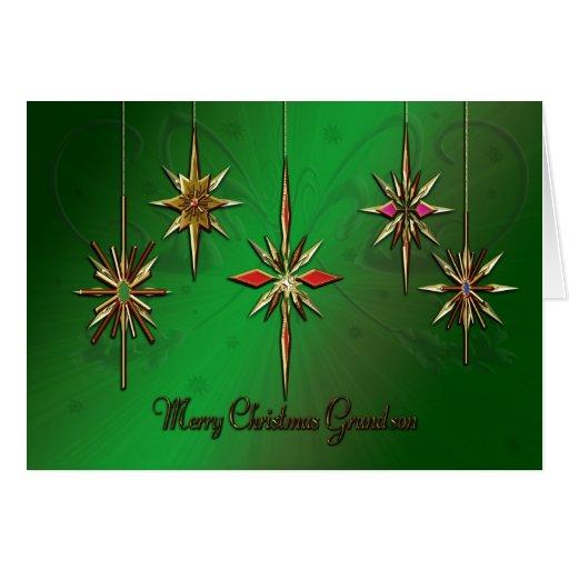 Tarjeta de Navidad del nieto