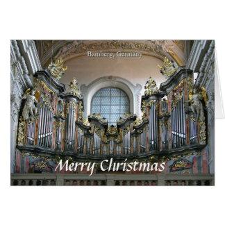 Tarjeta de Navidad del órgano de Bamberg