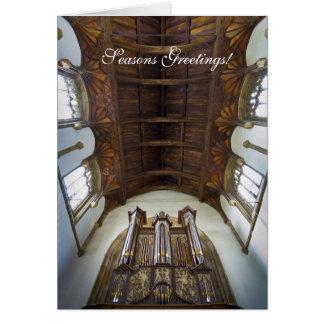 Tarjeta de Navidad del órgano de Framlingham