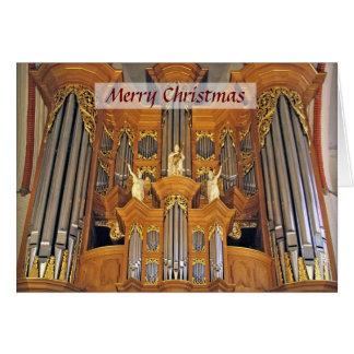 Tarjeta de Navidad del órgano de Hamburgo