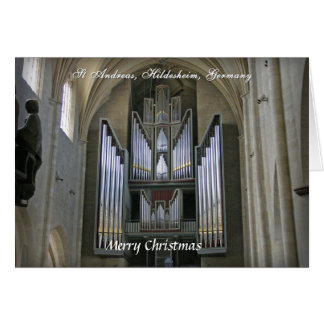 Tarjeta de Navidad del órgano de Hildesheim