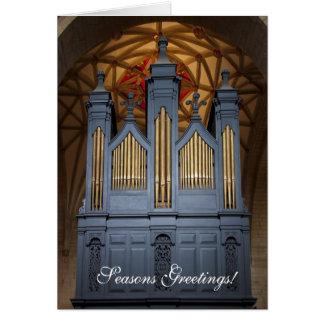 Tarjeta de Navidad del órgano de la abadía de