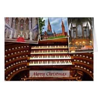 Tarjeta de Navidad del órgano de Wiesbaden