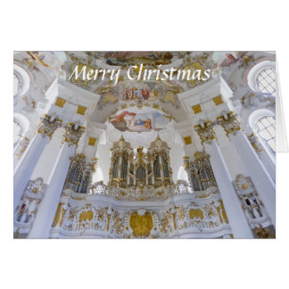 Tarjeta de Navidad del órgano de Wieskirche