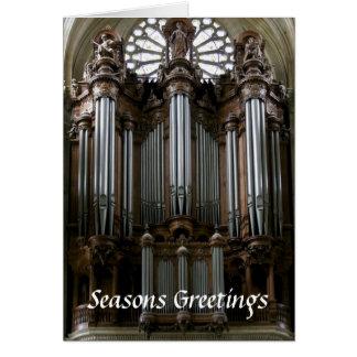 Tarjeta de Navidad del órgano del St Eustache