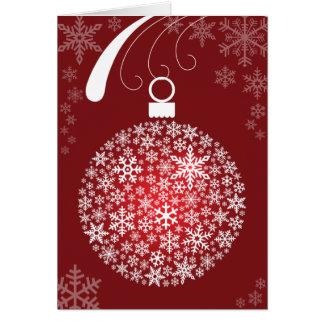 Tarjeta de Navidad del ornamento del copo de nieve