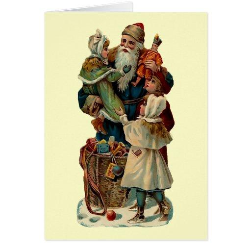 Tarjeta de Navidad del padre del vintage