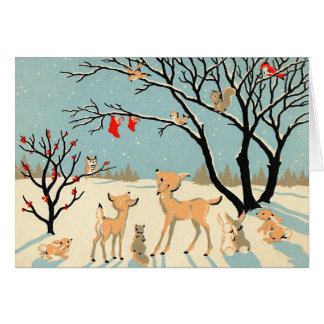 Tarjeta de Navidad del país de las maravillas del