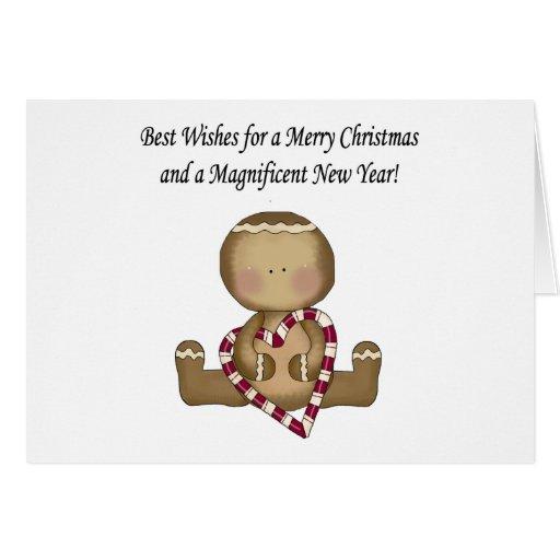 Tarjeta de Navidad del pan de jengibre