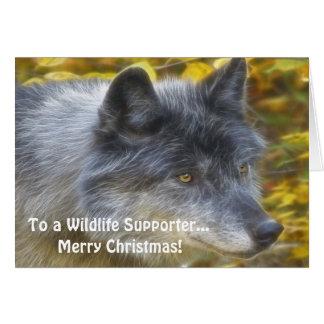 Tarjeta de Navidad del partidario de la fauna del
