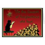 tarjeta de Navidad del perdón y del amor