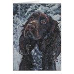 tarjeta de Navidad del perro de aguas de campo