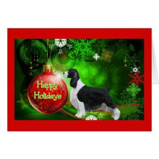 Tarjeta de Navidad del perro de aguas de saltador