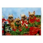 Tarjeta de Navidad del perro de Brussells Griffon