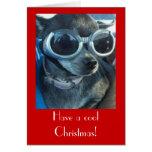 Tarjeta de Navidad del perro de la ji