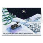 Tarjeta de Navidad del perro de pastor
