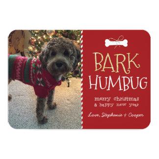 """Tarjeta de Navidad del perro del embaucamiento de Invitación 3.5"""" X 5"""""""