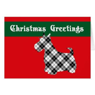 Tarjeta de Navidad del perro del escocés de Terrie