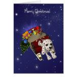 Tarjeta de Navidad del perro, Felices Navidad, Dal