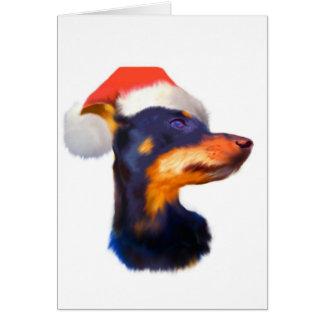Tarjeta de Navidad del Pinscher miniatura