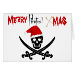 Tarjeta de Navidad del pirata de la diversión