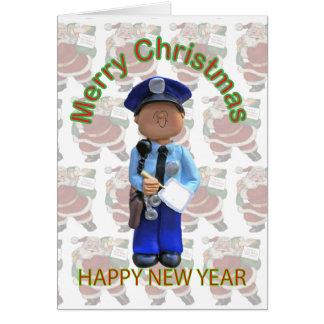 Tarjeta de Navidad del policía del juguete