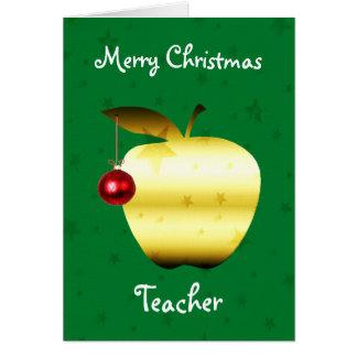 Tarjeta de Navidad del profesor