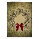 Tarjeta de Navidad del pulpo del vintage