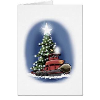 Tarjeta de Navidad del remolcador