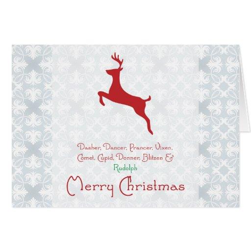 Tarjeta de Navidad del reno
