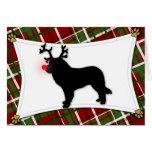 Tarjeta de Navidad del reno de Leonberger