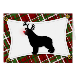 Tarjeta de Navidad del reno de Terranova